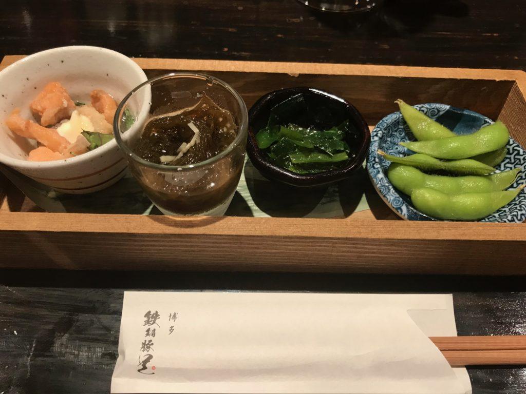 博多鉄鍋豚足「前菜」